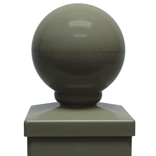 Fairway 5in Ball Post Cap 5in Vinyl Post Caps Vinyl