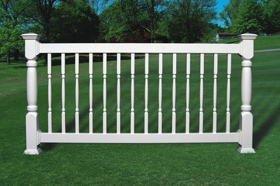 Fairway Standard Vinyl Railing Kit W Turned Balusters Us