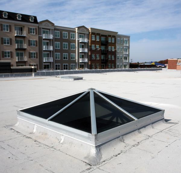 Wasco spy 8080 square pyramid skylight us building products for Architectural skylights
