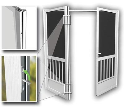 Pca products french doors for Anderson retractable screen door